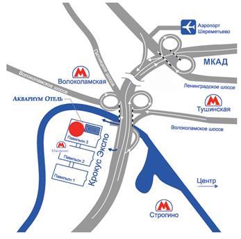 Схема проезда на выставку INTERCHARM